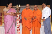 Inauguration of the programme by Kumj Shobha Karandlaje by lighting the lamp on 26th