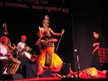 Harishchandra being blessed by Shiva