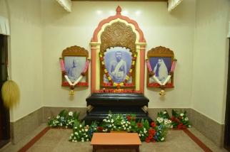 Shrine decorated at Mangalore Ashrama